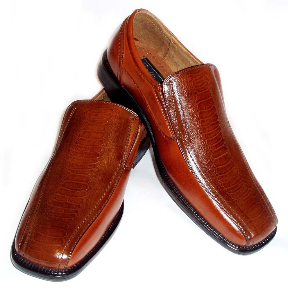 Crocodile Print Mens Dress Shoes