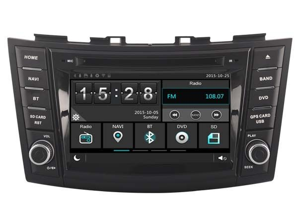 car dvd head unit radio for suzuki swift 2011 2015 gps dsp. Black Bedroom Furniture Sets. Home Design Ideas
