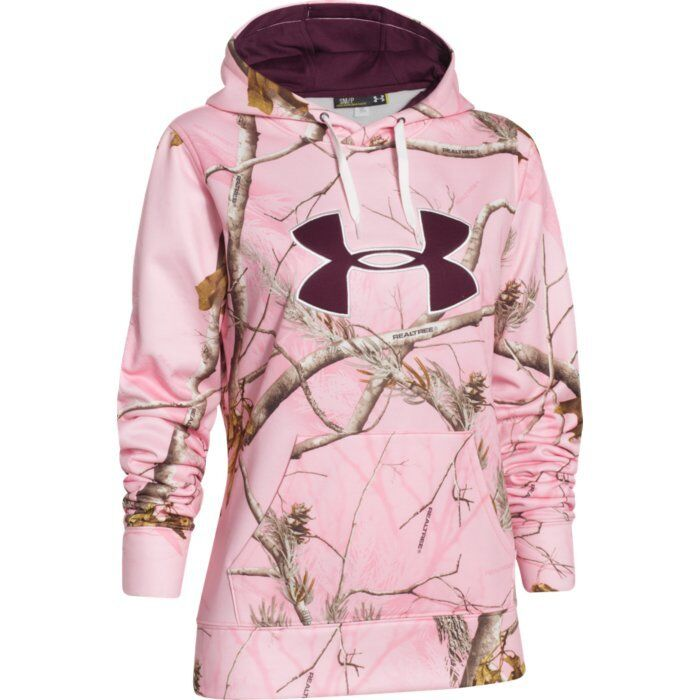 Details about Under Armour Women s ColdGear Big Logo Hoodie (Realtree Pink  Camo) 1265757-935 7f728086ab