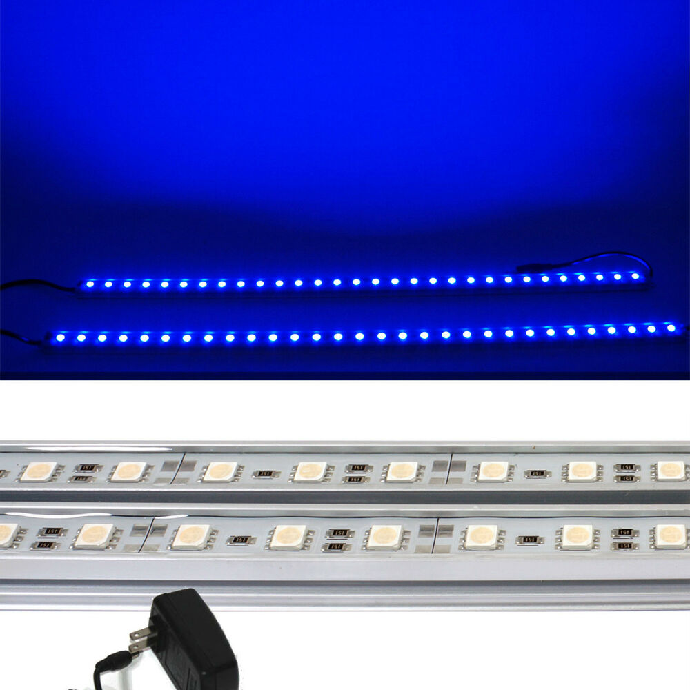 2x 20 inch led kitchen under cabinet light strips strip bars kit blue