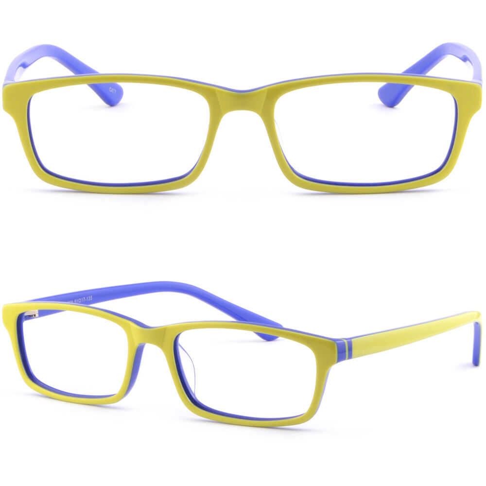 Ladies Blue Frame Glasses : Light Plastic Acetate Frame Men Women Frames RX ...