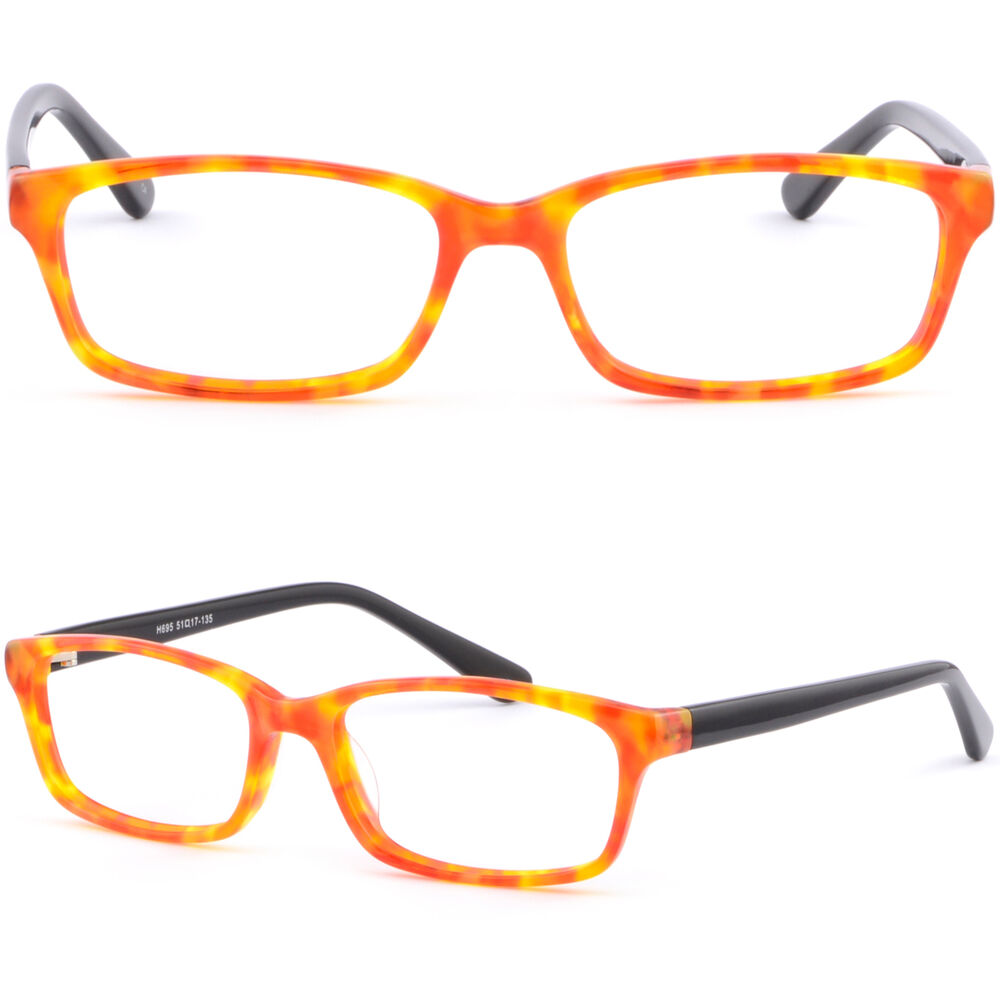 Ladies Plastic Eyeglass Frames : Light Plastic Acetate Frame Women Girl Frame Prescription ...