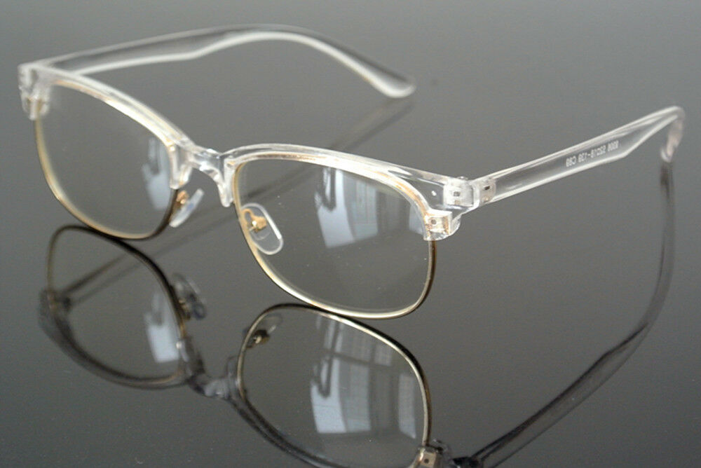 Eyeglass Frames Half Rim : Fashion Transparent Clear Eyeglass Frame Half Rim ...