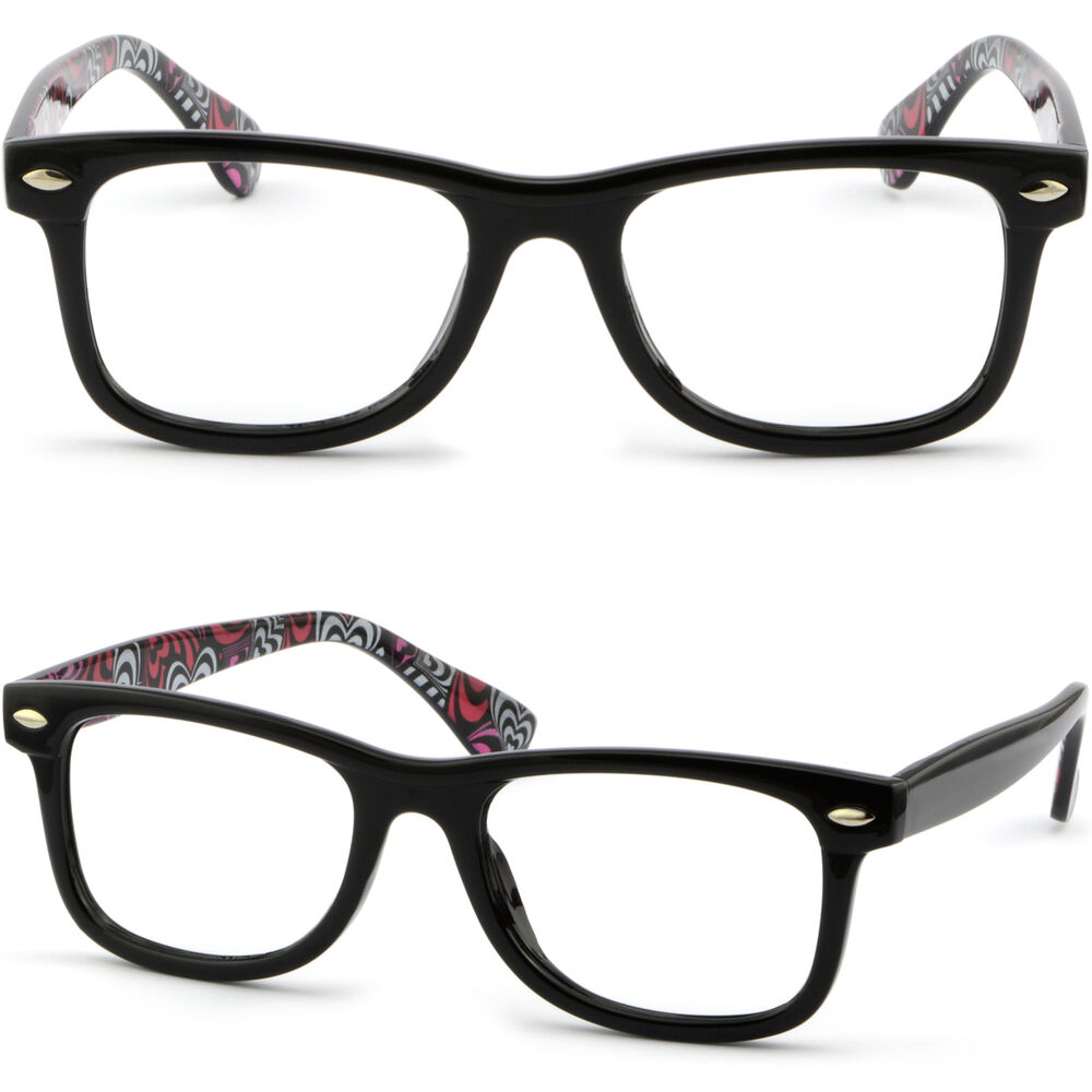 Square Plastic Mens Womens Frame Heart Swirled Pattern ...