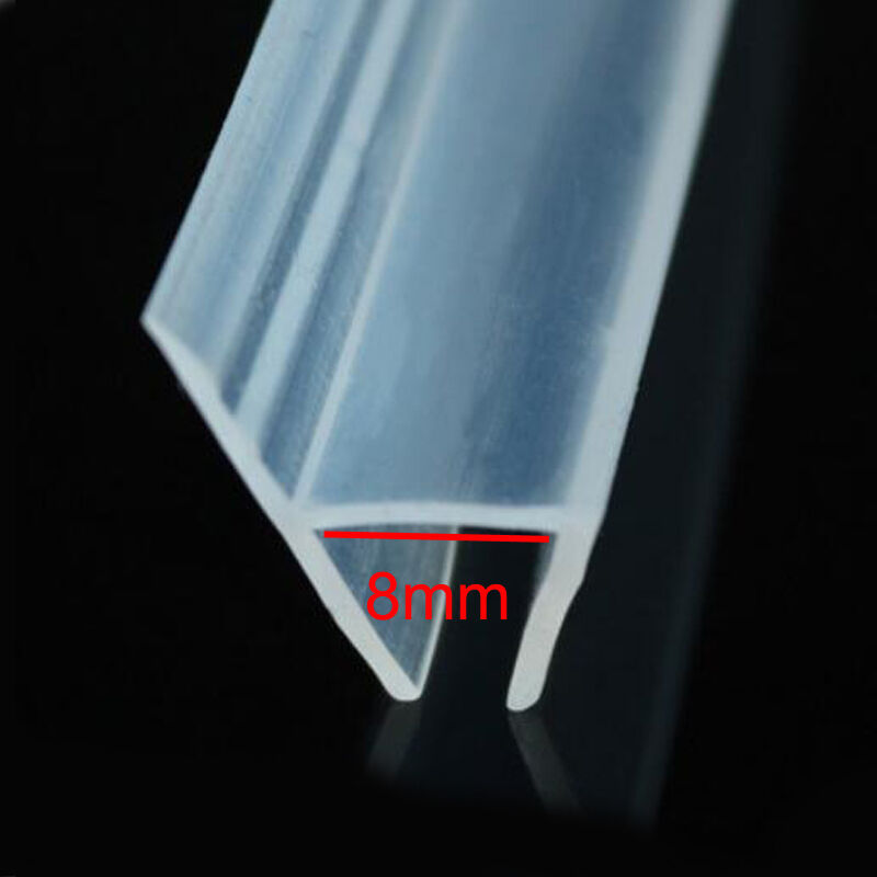 H Shape Shower Glass Door Silicone Rubber Strip Seal Wipe