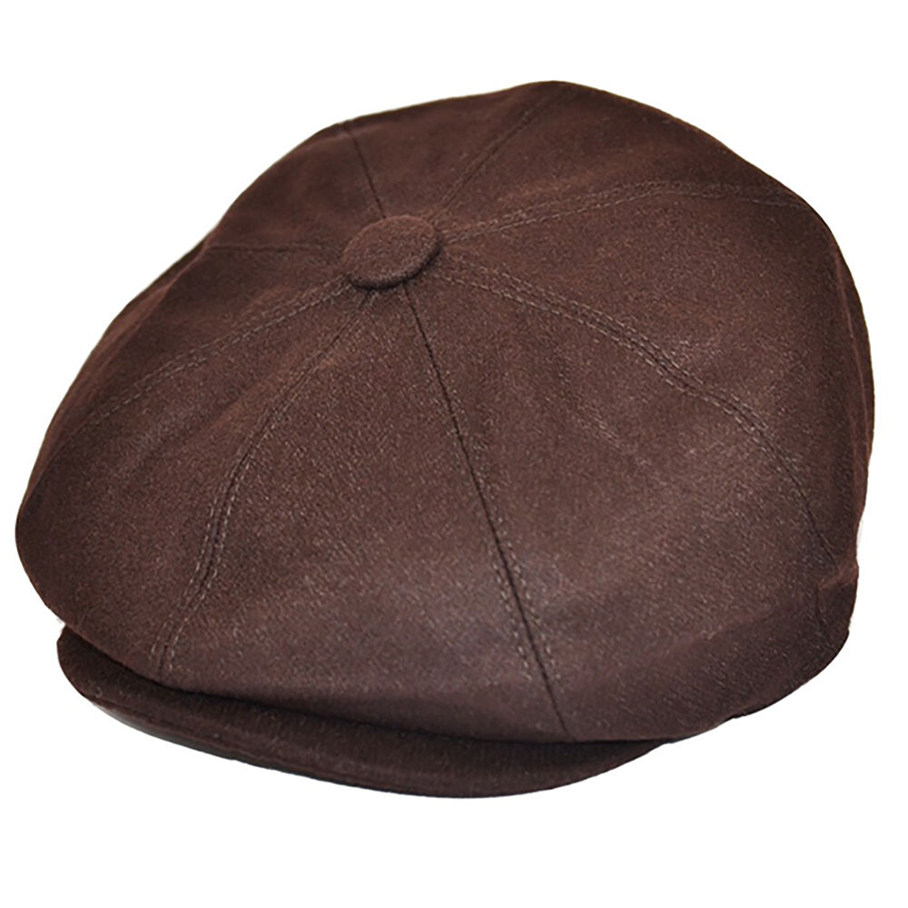 G Amp H Brown Wool Newsboy 8 Panel Peaky Blinders Style