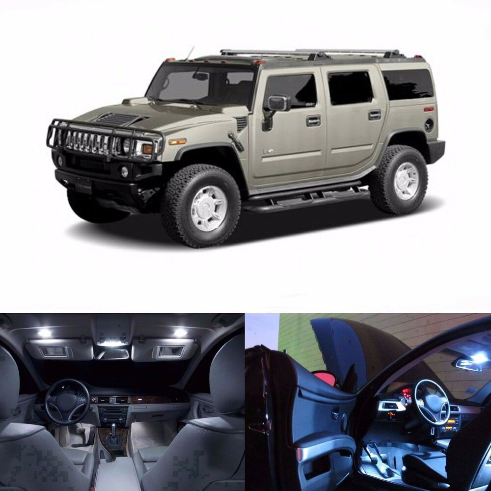 Led White Lights Interior Package Kit For Hummer H2 2003 2006 20 Leds Ebay