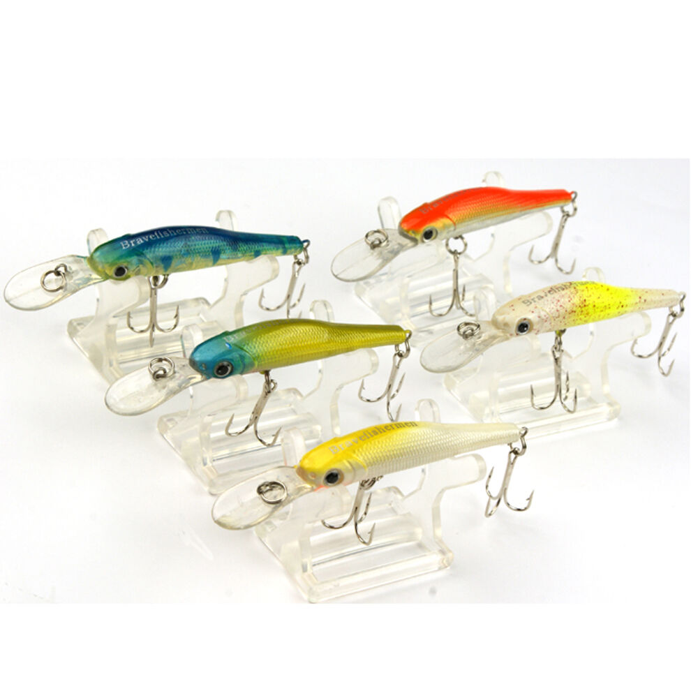 Minnow fishing lures hook floating bass fishing lure for Fishing lures ebay