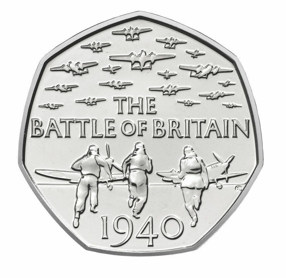 2015 50p Coin Battle Of Britain 5th Portrait Rare Fifty