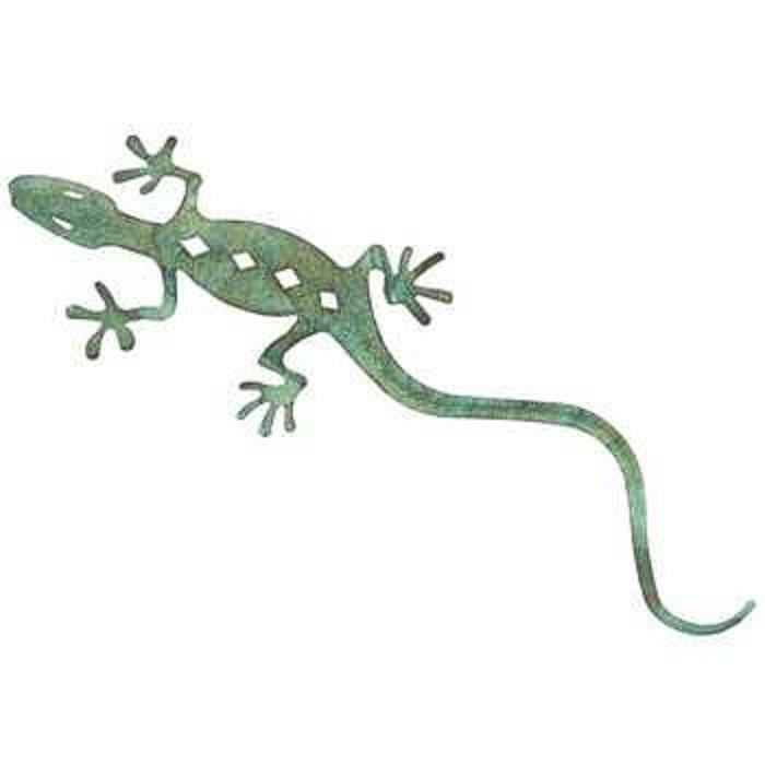 Hobby Lobby Large Metal Wall Decor : Metal lizard gecko wall art decor green hanging
