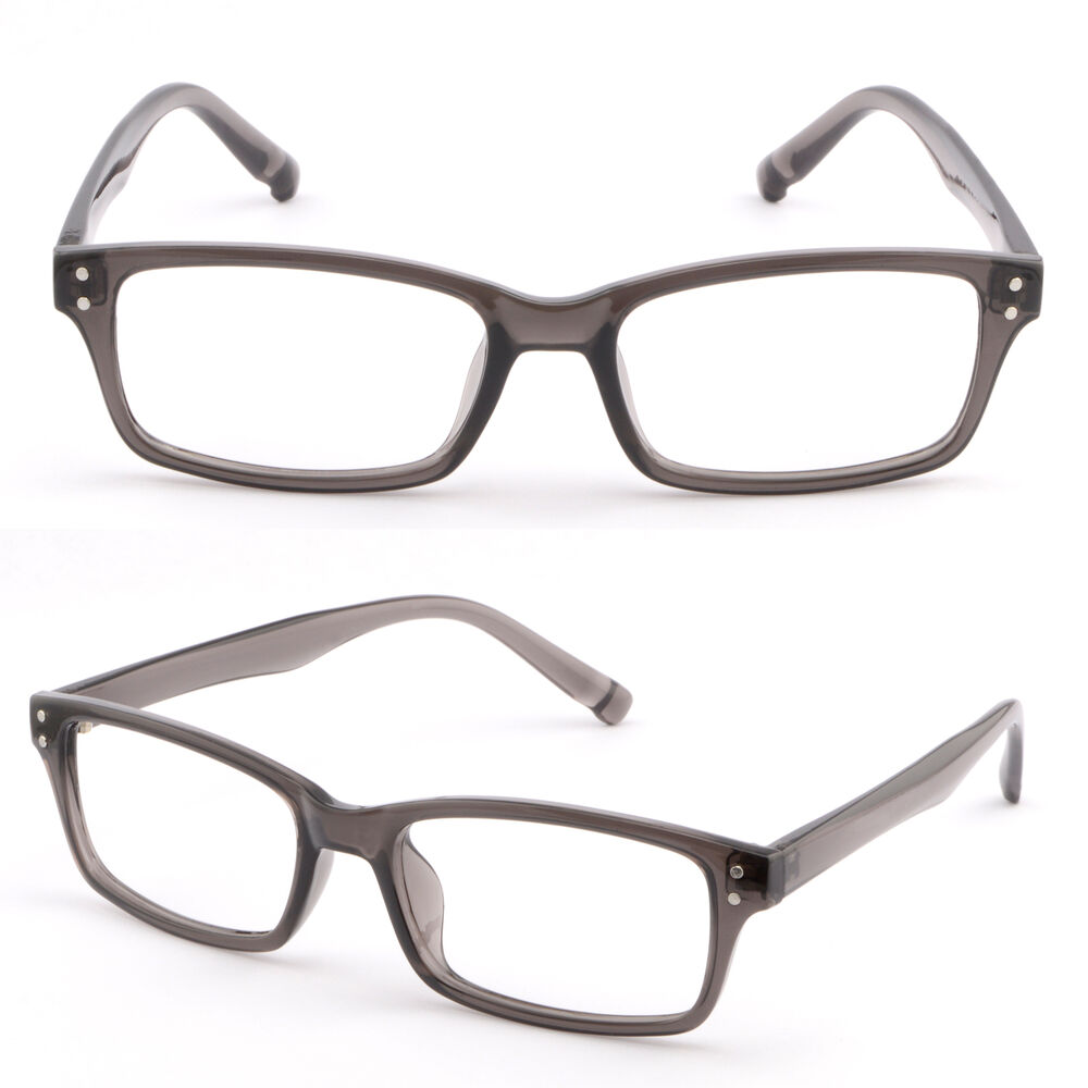 Lightweight Plastic Frame Glasses : Light Rectangular Men Women Plastic Frame Glasses Metallic ...