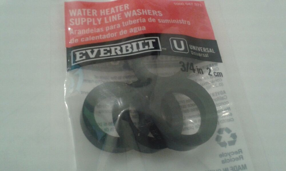 Everbilt Water Heater Supply Line Washers 3 4 Quot 4 Pck