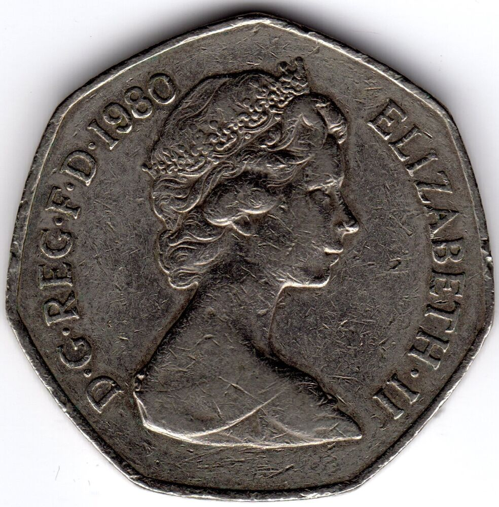 old 50 cent coin