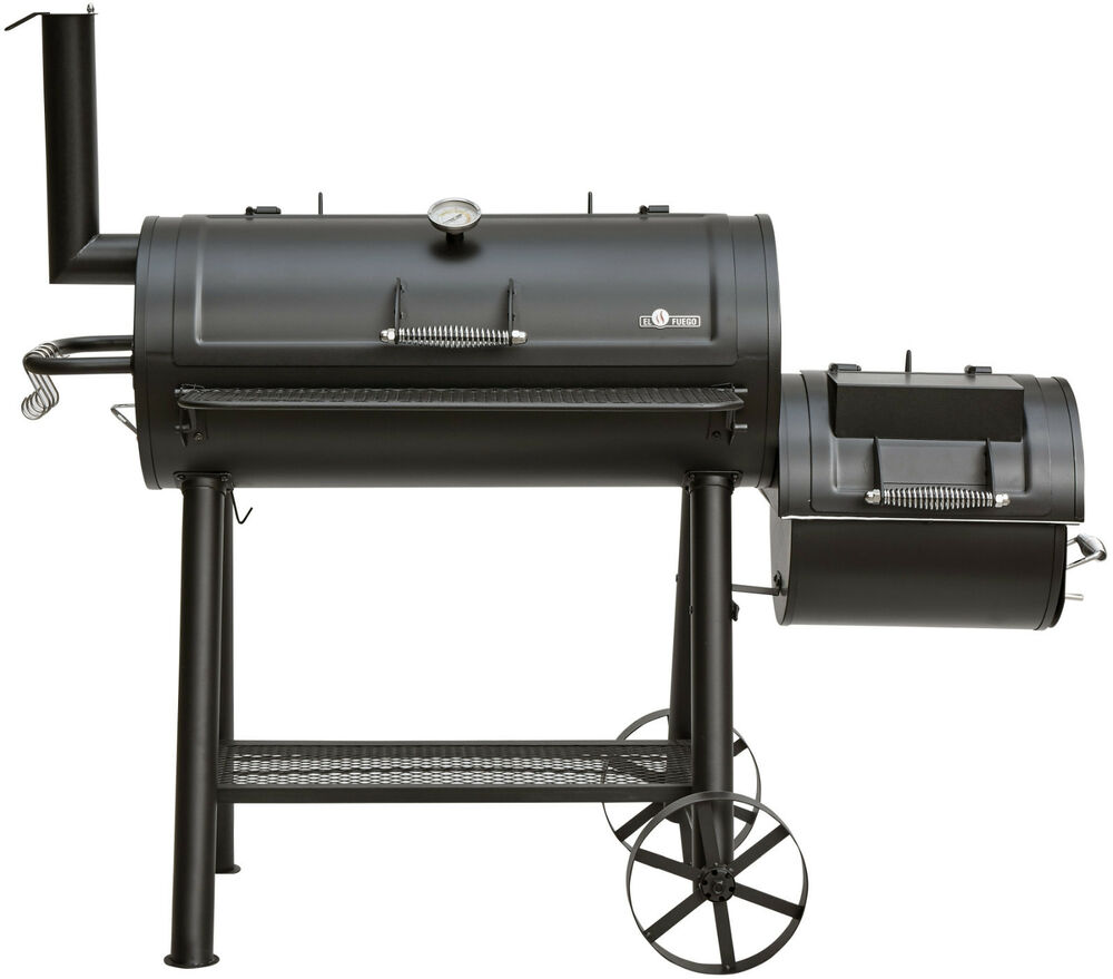 smoker grill buffalo von el fuego holzkohlegrill bbq grill xxl smoker ay 568 ebay. Black Bedroom Furniture Sets. Home Design Ideas