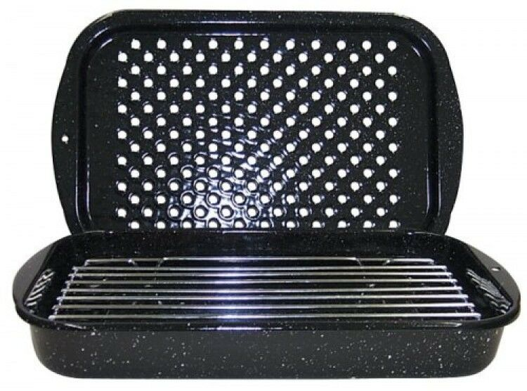 Granite Ware 3piece Bake Broil And Grill Pan Set New
