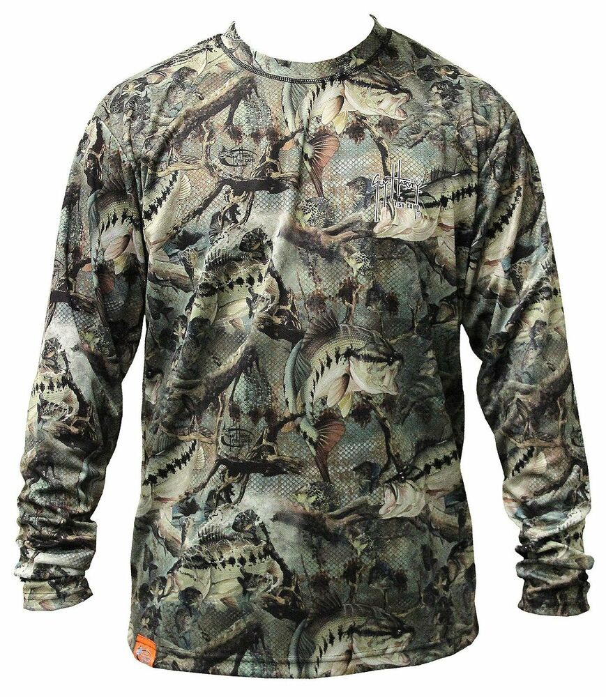 Guy harvey strike camo performance fishing shirt pick for Camo fishing shirt