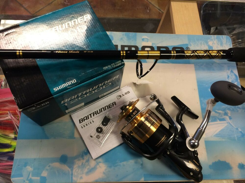 Brand new shimano baitrunner 12000d reel w chaos sp for Chaos fishing rods