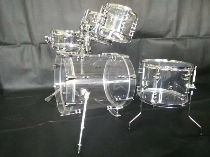 brand new small size 5 pc acrylic drum set with tube lugs by 3 colors available ebay. Black Bedroom Furniture Sets. Home Design Ideas