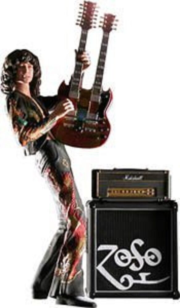 led zeppelin jimmy page w guitar 7 inch action figure toy new in box nib rare 689998393228 ebay. Black Bedroom Furniture Sets. Home Design Ideas