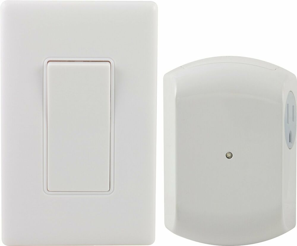 Fan Or Light Wall Remote Control : GE Wall-Switch Light Control Remote with 1 Outlet Receiver, Wireless, White, ... eBay