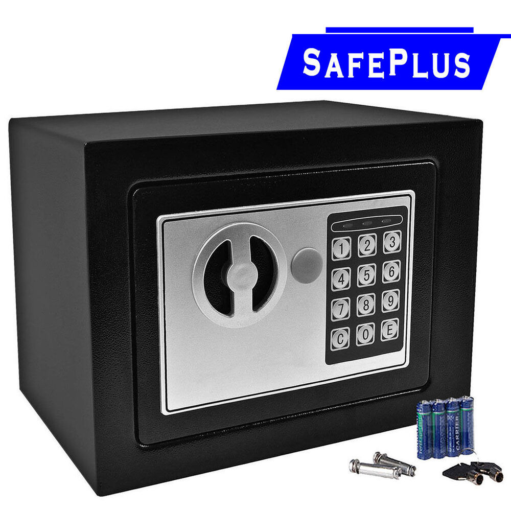 durable digital electronic safe box keypad lock home office hotel gun black ebay. Black Bedroom Furniture Sets. Home Design Ideas