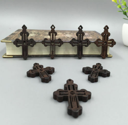 Free wholesale 50pcs jesus cross wood technology hollow for Cheap wooden crosses for crafts
