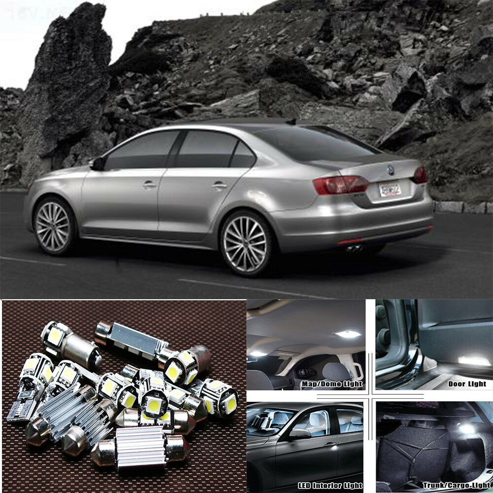 14pcs White Canbus Interior Led Light Package For Vw Jetta 6 Mk6 Sedan 2011 2014 Ebay