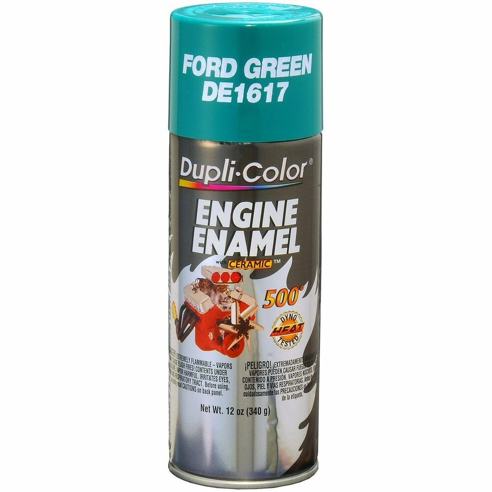 Duplicolor de1617 ford green motor engine spray paint for Ford motor paint colors
