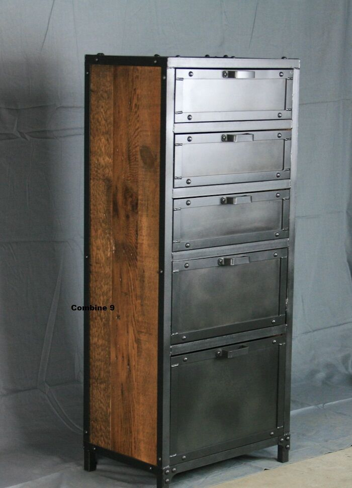 Steel Wood Armoire