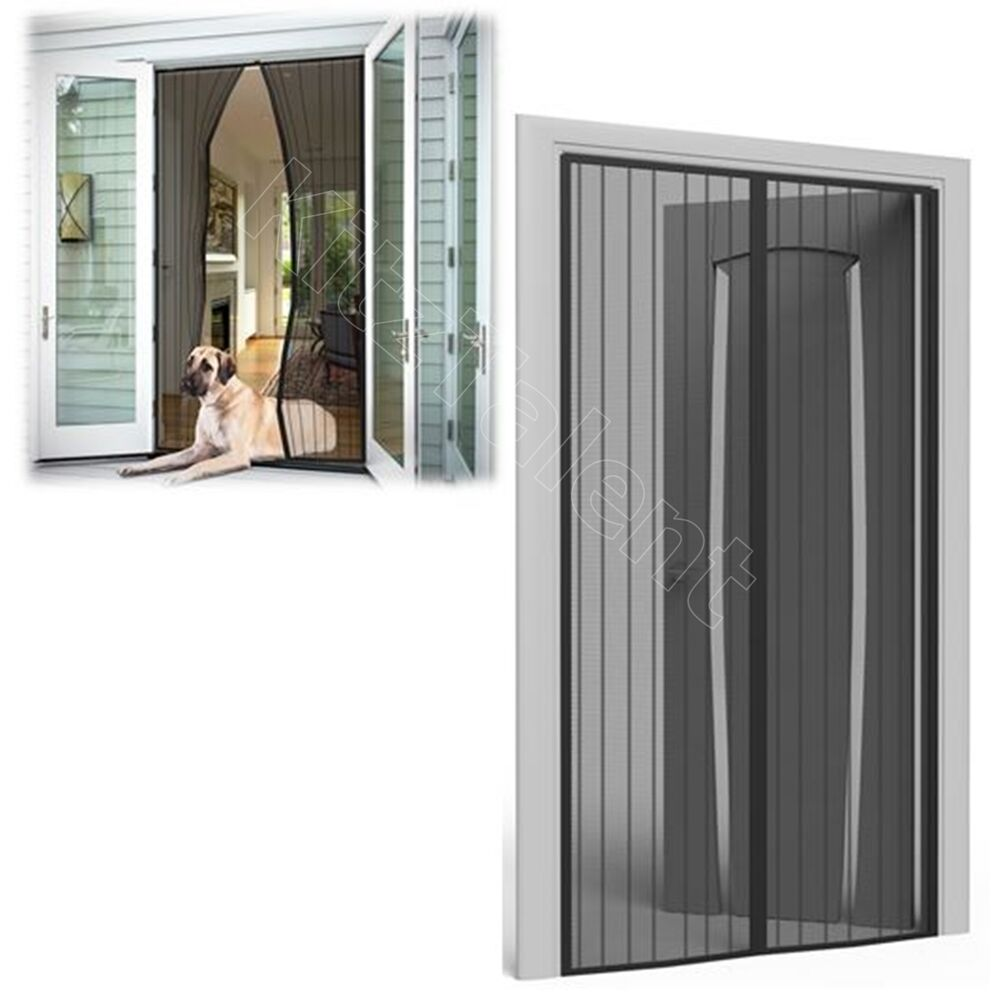 Magnetic mesh door screen heavy duty 35 x 82 net curtain for Patio screen door
