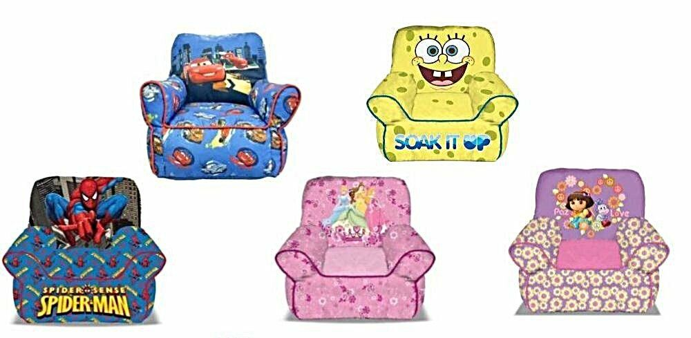 Minnie Mouse Lounge Chair Disney and Nickelodeon Kids and Toddlers Bean Sofa Chair   eBay