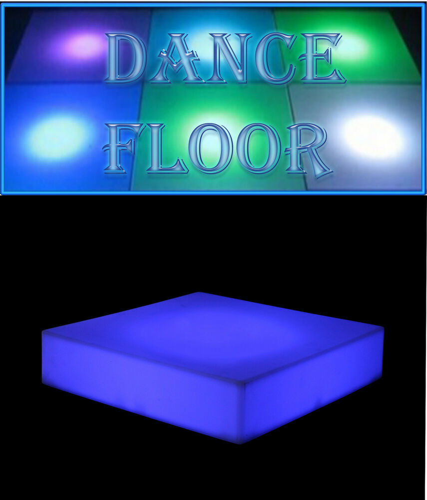 Portable Lighted Dance Floor : Portable led dj style dance floor multi color changing