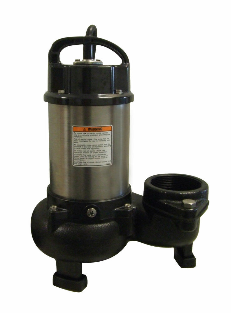 Tsurumi 12pn 1 hp submersible pond pump ebay for Submersible pond pumps