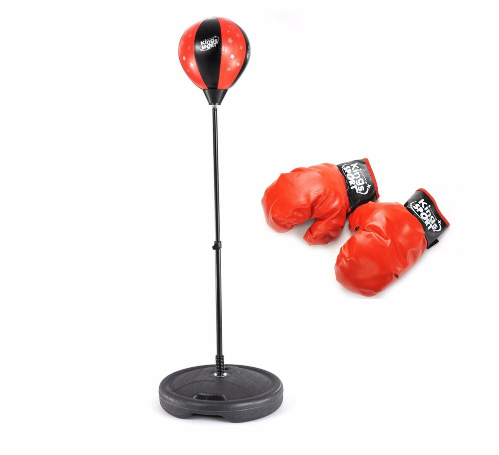 Boxing Punching Bag Ball With Adjustable Stand Amp Gloves
