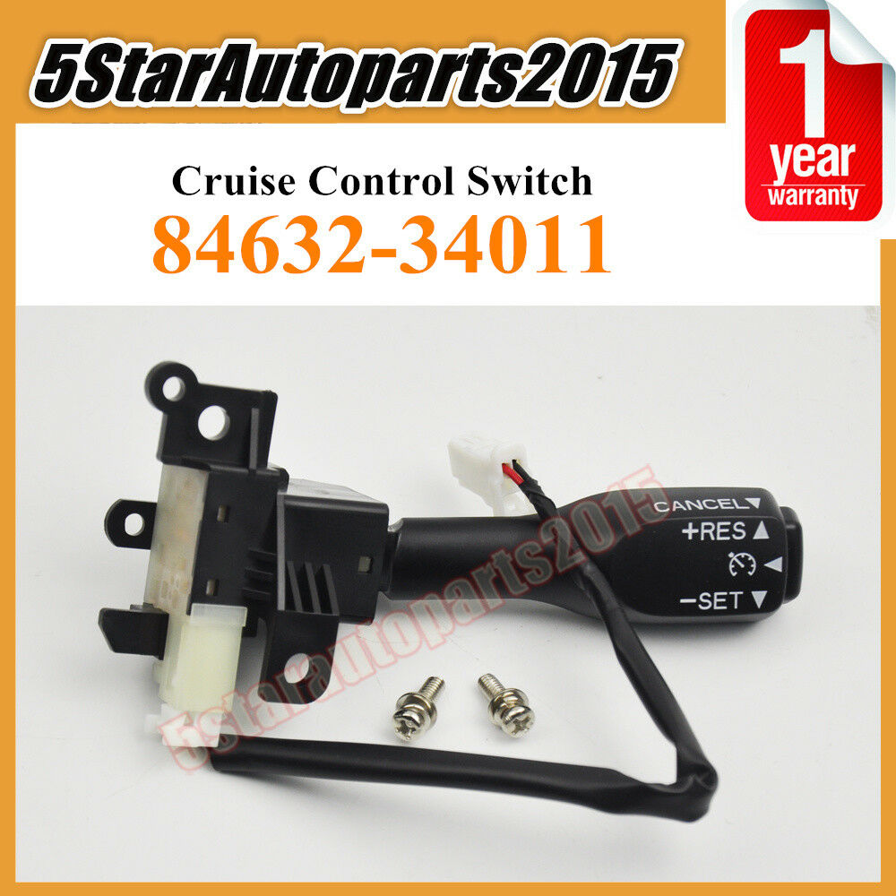 cruise control switch 84632 34011 for toyota camry rav4 prius scion lexus screws ebay. Black Bedroom Furniture Sets. Home Design Ideas