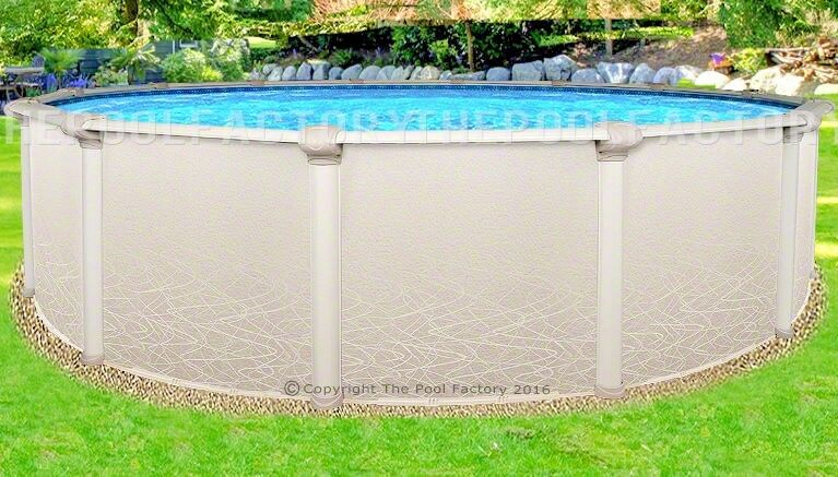 15x52 Round Saltwater 5000 Above Ground Salt Swimming Pool With 25 Gauge Liner Ebay