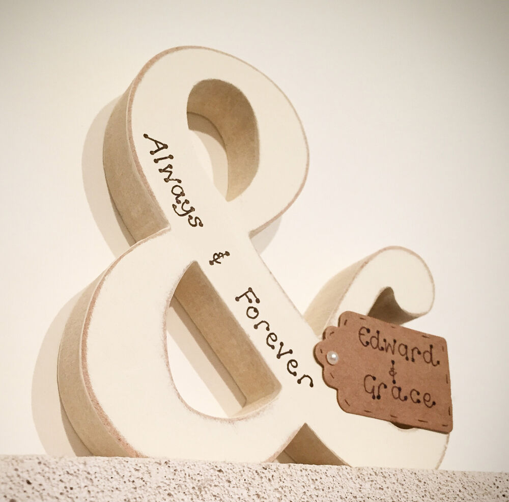 Personalised wedding engagement anniversary wooden gift