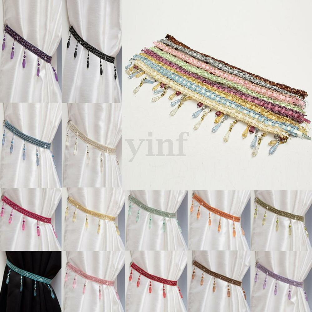 beaded curtain tie back matching swags available