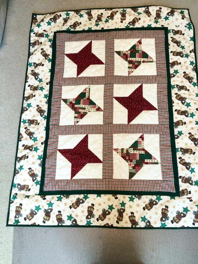 Lap quilt size handmade quilt lap blanket christmas Wood valley designs