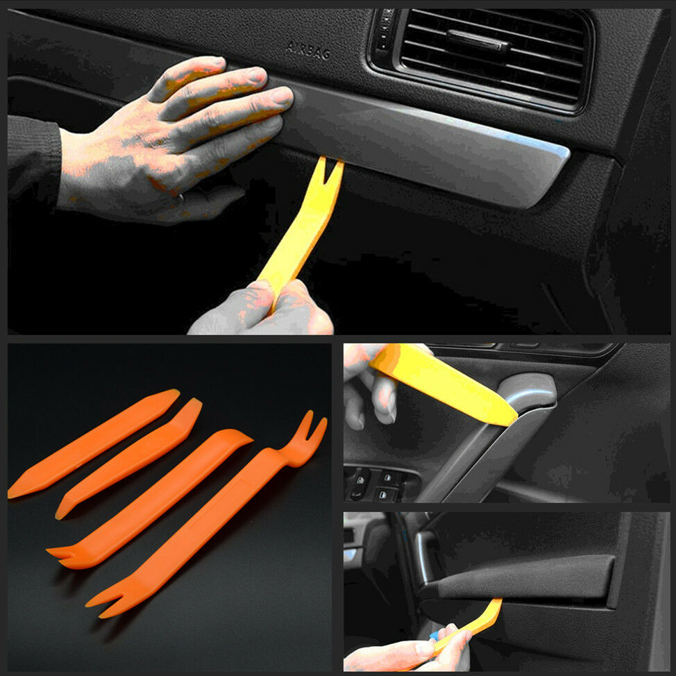 4x car door trim panel clip lights radio audio removal pry open tool kit for bmw ebay. Black Bedroom Furniture Sets. Home Design Ideas