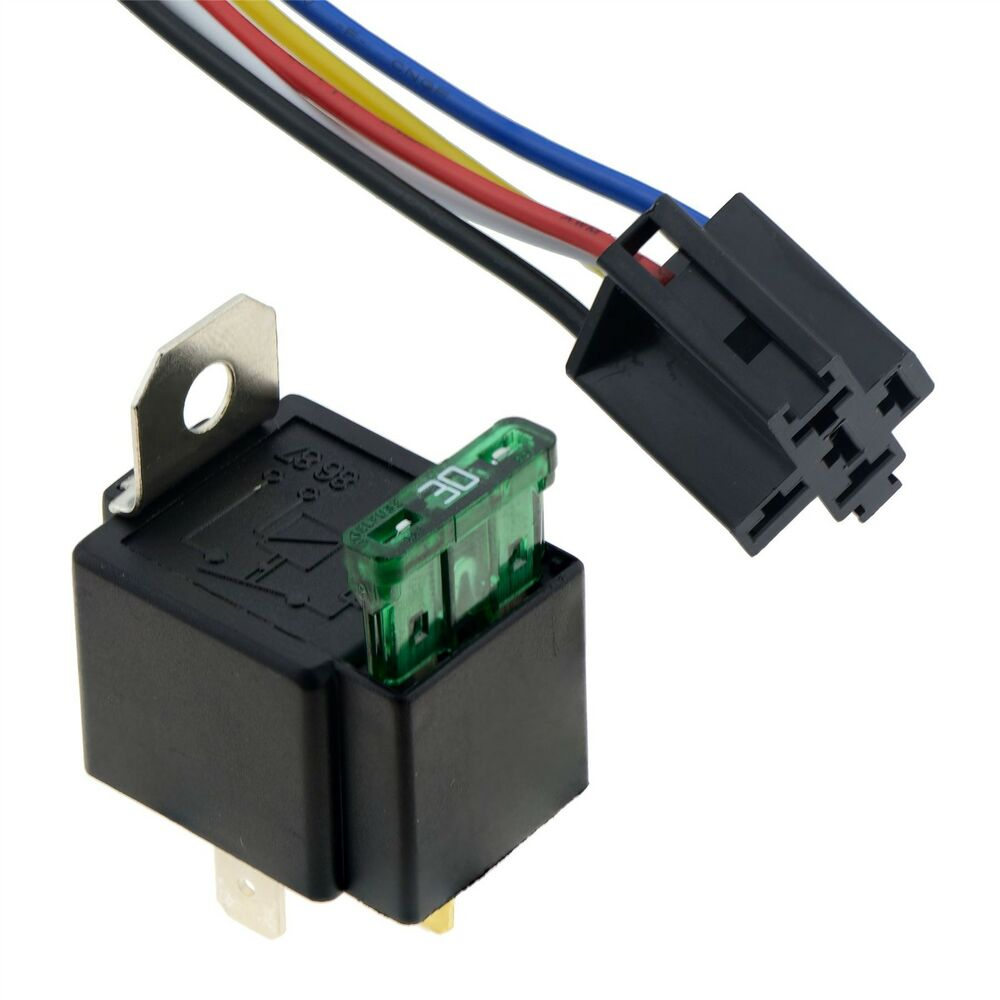 12v Automotive On Off Fused Relay 30a 4 Pin With Holder