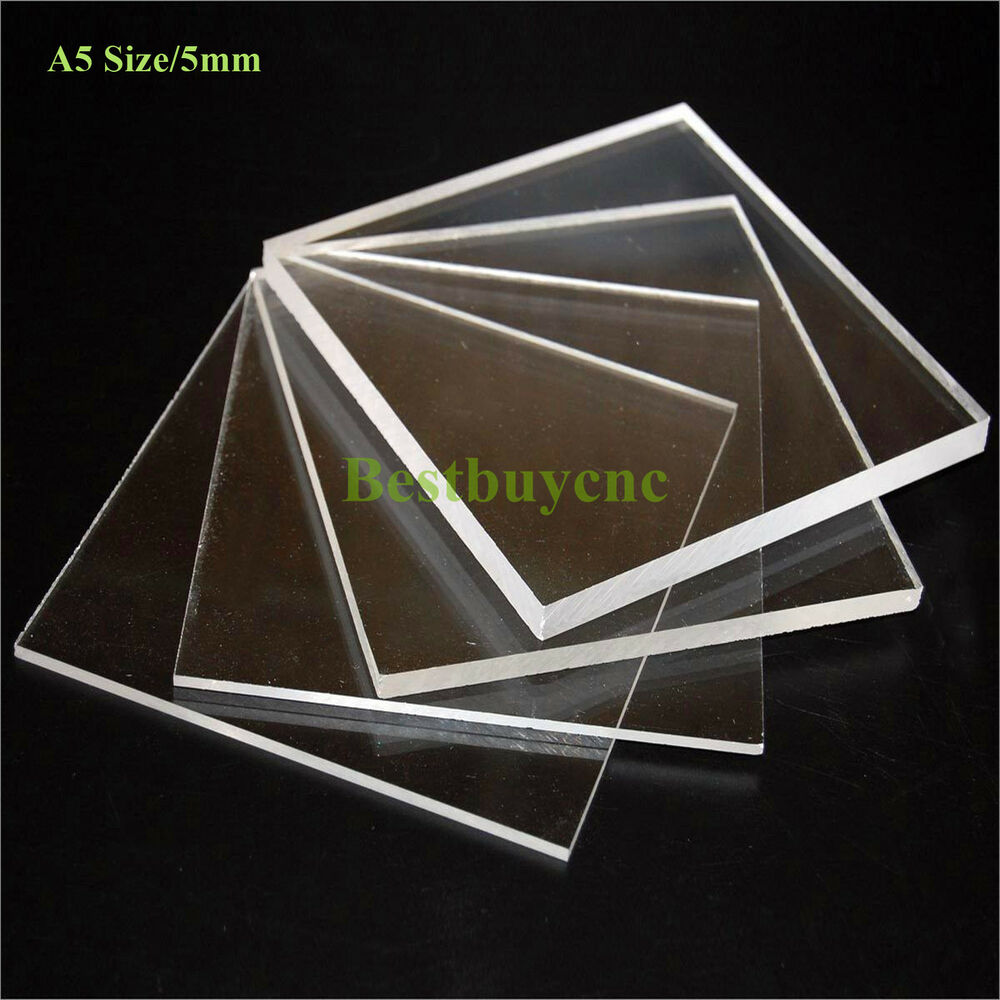 5mm a5 size clear plastic acrylic plexiglass perspex sheet new ebay. Black Bedroom Furniture Sets. Home Design Ideas