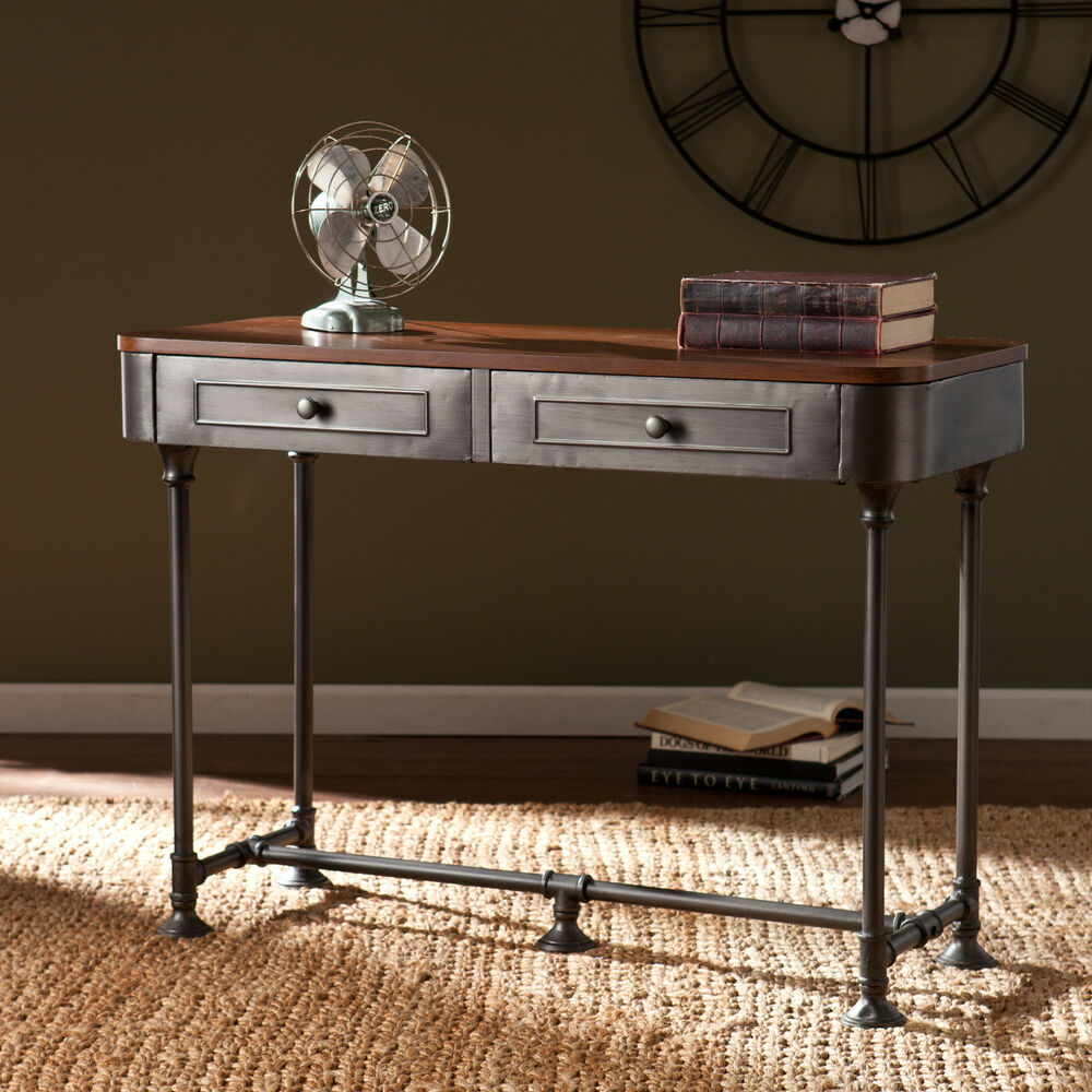 Edison Industrial Rustic Reclaimed Metal Sofa Console Table Vintage Furniture Ebay