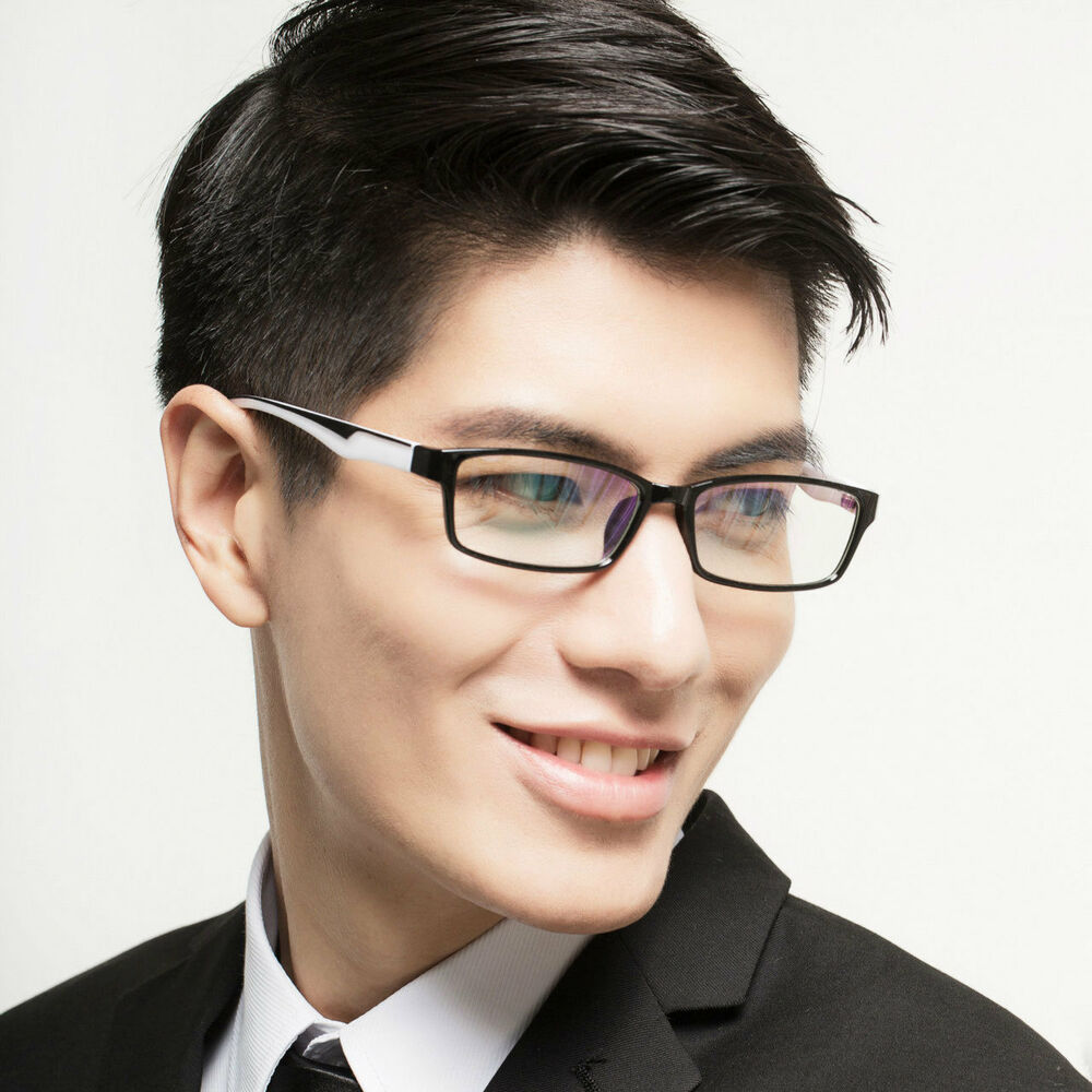 mens retro clear spectacles lens glasses frame