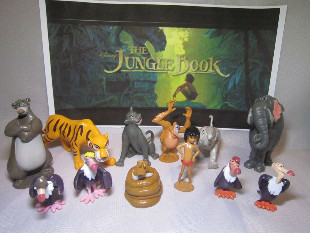 Disney THE JUNGLE BOOK Movie 2016 Set of 12 pcs figure ...