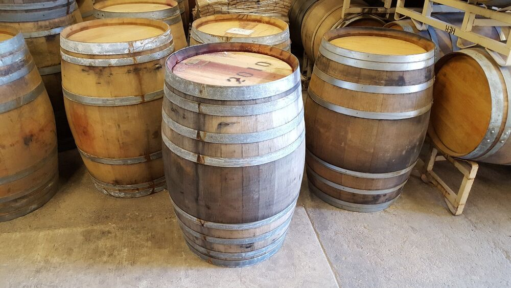 3 used wine barrels solid oak napa valley lowest price
