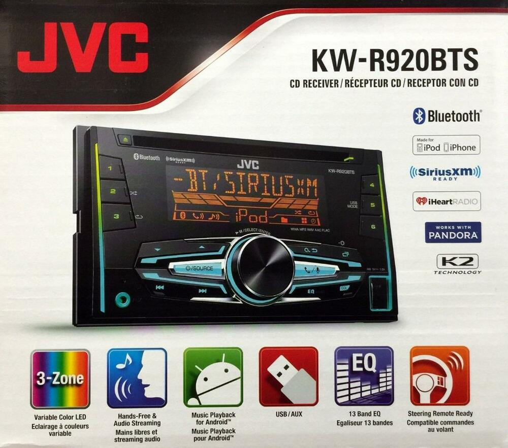 jvc kw r920bts double din bluetooth in dash car stereo. Black Bedroom Furniture Sets. Home Design Ideas