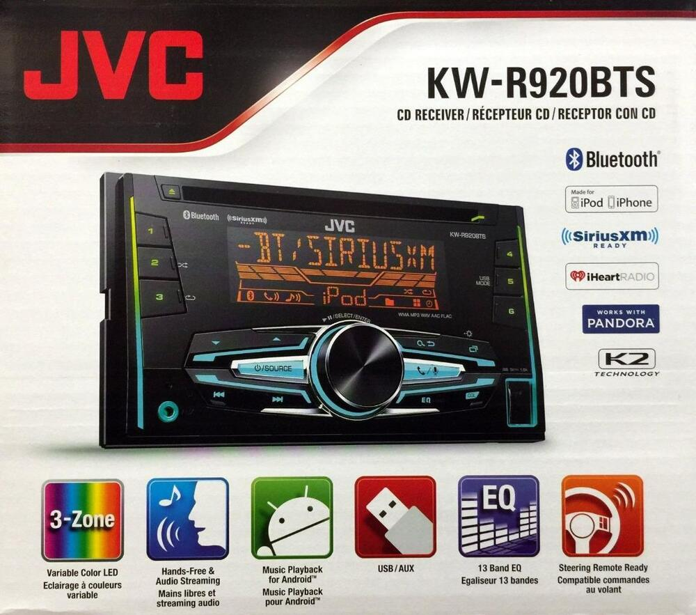 JVC KW-R920BTS Double DIN Bluetooth In-Dash Car Stereo