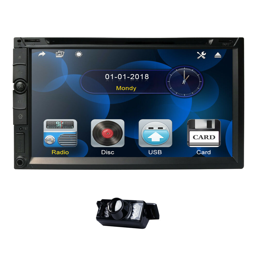 "Reverse Camera+7"" Touch Screen Car Stereo DVD CD Player"