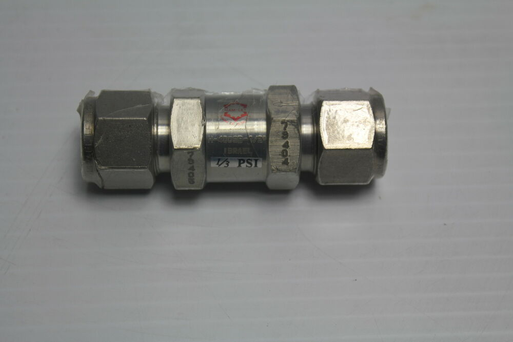 """Ham-Let H-400-SS-L-1/2 1/2"""" Stainless Steel Check Valve 1 ..."""